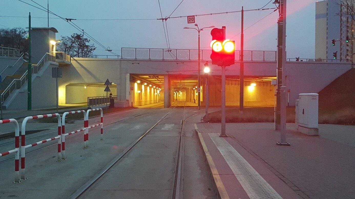 Im Osten der Stadt gibt es einen größeren Tunnel, der ausschließlich vom Straßenbahnverkehr genutzt wird.