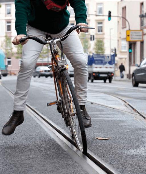 Vorsicht mit dem Fahrrad