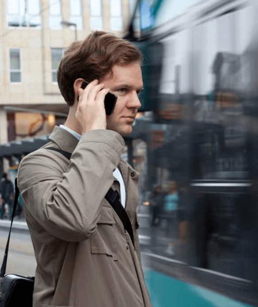 Vorsicht beim Telefonieren