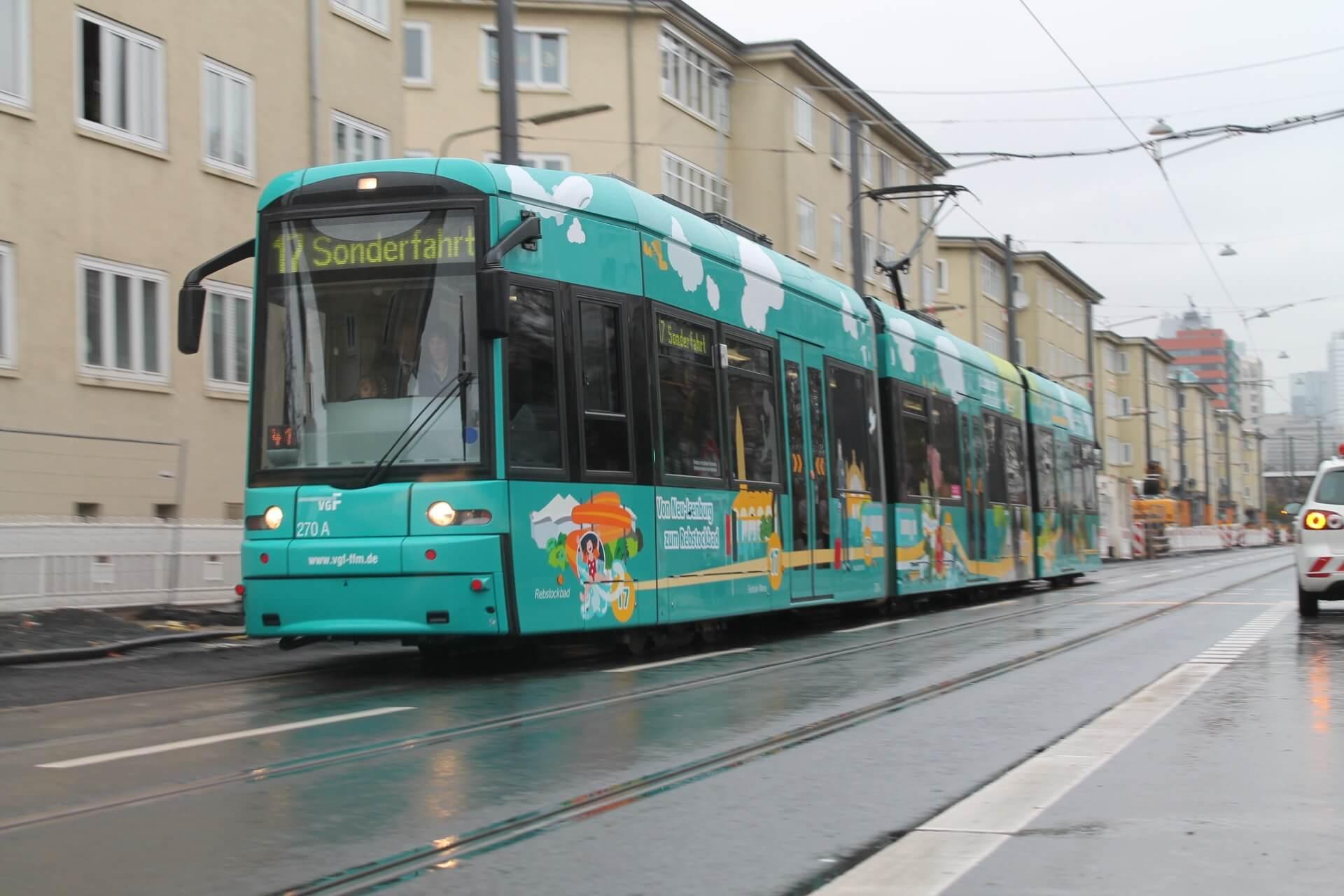 Eröffnung der Linie 17 im Dezember 2014