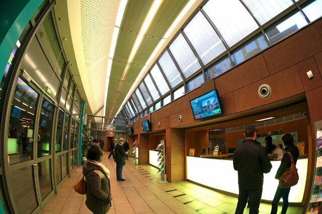 Das TicketCenter in der Hauptwache von innen