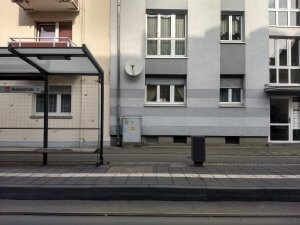 Mietshäuser an der Haltestelle Oberrad Balduinstraße
