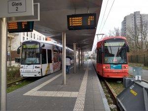 Die Endstation der Linie 18 am Gravensteiner-Platz