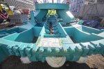 Nahaufnahme des Schneidradzentrums der Tunnelvortriebsmaschine Baumaßnahmen Verlängerung U5 Europaviertel