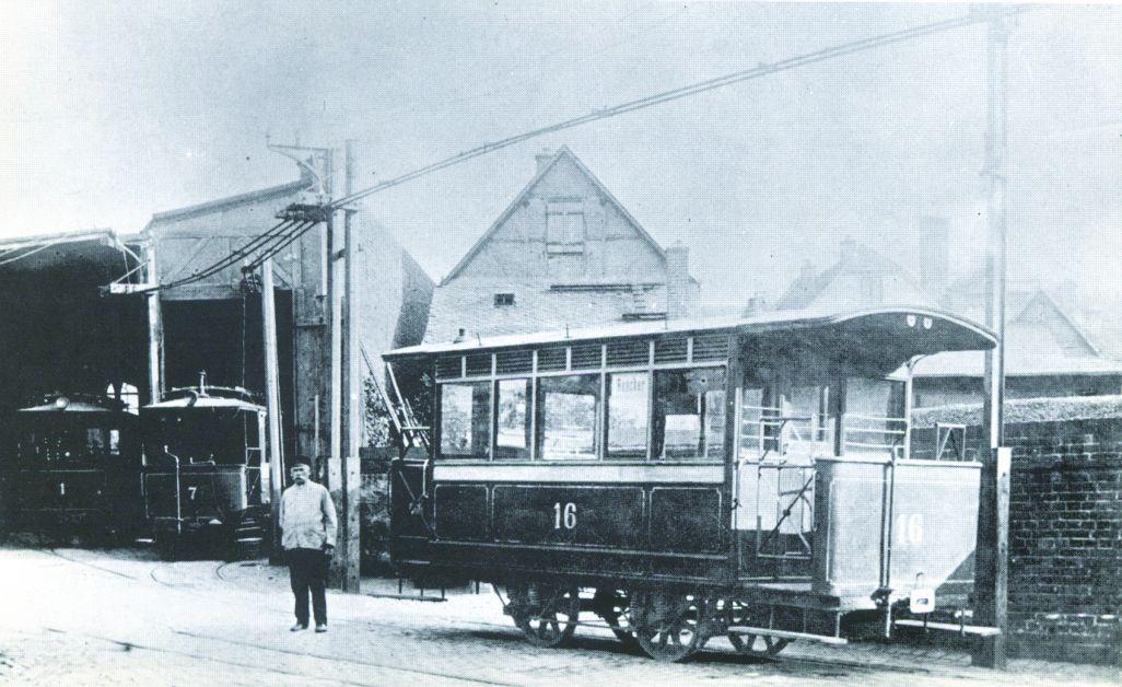 Historisches Schwarz-Weiß-Bild Betriebshof Gutleut